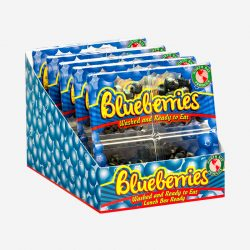 Singles, Grab and Go Washed Blueberries Ready-to-eat Stacked - Packline USA