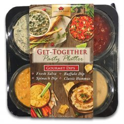 Four Dip Tray, Dips and Salsa - Packline USA
